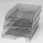 Лоток горизонтальный КиП ЛГ-04пр., пластик, прозрачный