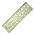 Трафарет шрифтов №16 Спектр, непрозначный цветной (ЛШ-16нц)