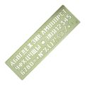 Трафарет шрифтов №16 Спектр (ЛШ-16)