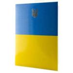 Папка С Гербом Украины Реверс, А4, винил, желто-голубой (П-180.GERB)
