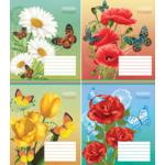 Тетрадь ученическая Мрії Збуваються Садовые цветы, 12 л, клетка, (ТА5.1211.2316к)