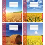 """Тетрадь 12л. (клетка) """"Украинские поля"""" (ТА5.1211.2564)"""