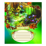 Тетрадь ученическая Мрії Збуваються Лесные домики, 12 л, косая, (ТА5.1221.2576с)