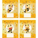 """Тетрадь 12л. (косая) """"Веселая пчелка"""" (ТА5.1221.2873с)"""