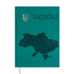 Ежедневник недатированный Buromax Ukraine, А5, 288 стр., зеленый (BM.2021-04)