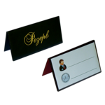 Настольная табличка двухсторонняя Panta Plast РЕЗЕРВ, 70х155 мм, винил, черный (0300-0073-01)