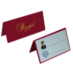 Настольная табличка двухсторонняя Panta Plast РЕЗЕРВ, 70х155 мм, винил, бордовый (0300-0073-10)