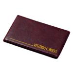 Визитница Panta Plast, 24 визитки, бордовый (0304-0002-10)