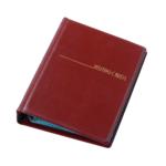 Визитница Panta Plast, 120 визиток, бордовый (0304-0007-10)