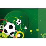 Подкладка для письма с карманом Panta Plast Футбол, PVC, 665х430 мм (0318-0035-95)