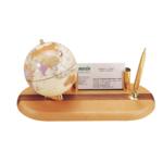Глобус на деревянной подставке Bestar, светлая вишня, 95 мм + шариковая ручка (0930HDY)
