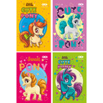 Блокнот на пружине сверху Zibi Kids Line, А6, 40л., Cute Pony, картонная обложка (ZB.12131)