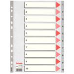 Разделители пластиковые Esselte, РР, А4, цифровые 1-10 (100105)