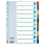 Разделители Esselte картонные, А4 1-10 (100161)
