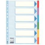 Разделители Esselte картонные цветные, А4, 6 разделов (100192)
