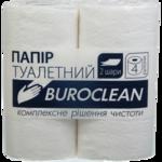 Бумага туалетная целлюлозная BuroClean, 4 рул, на гильзе, 2 слоя белый (10100011)