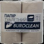 Бумага туалетная макулатурная BuroClean, 4 рул, на гильзе, 2 слоя белый (10100052)