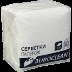 Салфетки бумажные BuroClean, 240х240 мм, белые, 100 шт (10100200)