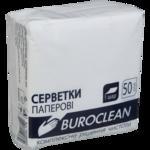 Салфетки бумажные BuroClean, 240х240 мм, белые, 50 шт (10100202)