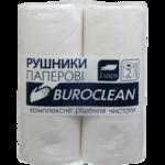 Бумажные полотенца BuroClean, на гильзе, 2 слоя, 2 рул, белый (10100400)