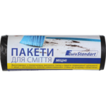 Пакеты для мусора BuroClean Eurostandart, черные, 120 л, 10 шт (10200042)