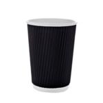 Стакан бумажный гофрированный BuroClean 400 (350 мл) , термо, 25шт/уп (1080025)