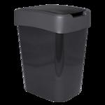 Ведро для мусора Евро 25л гранит/серое (al.123067-гран/сір)