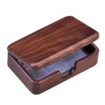 Контейнер для визиток Bestar из премиального орехового дерева 120х76х35 мм (1315WDN)