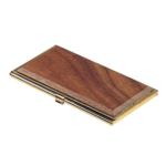 Футляр для визиток Bestar с металлической основой и декором из орехового дерева (1327WDN)