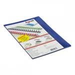 Обложки пластиковые Agent, прозрач, синие, А4, 180 мкн, 25 шт (1510284)