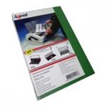 Обложки картонные Agent, под кожу, зеленые, А4, 230 г/м2, 100 шт (1521199)