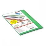 Обложки картонные Agent, под кожу, ярко-зеленые, А4, 230 г/м2, 25 шт (1521292)
