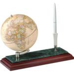 Глобус на деревянно-мраморной подставке Bestar, с ручкой, красное дерево