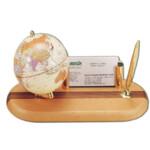 Глобус на деревянной подставке Bestar, светлая вишня + шариковая ручка