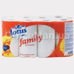 Бумажные полотенца Lotus, 1 слой, 9рул., целлюлоза