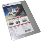 Обложки картонные Agent, глянцевые, серебро, А4, 250 г/м2, 100 шт (1523078)