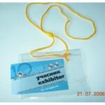 Бедж горизонтальный на шнурке Agent CD-108 B, 105 х 65 мм, боковая загрузка, 100 шт.
