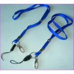 Шнурок для беджей с карабином Agent D004, 50 шт, синий (3420473)