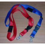 Шнурок для беджей Agent CD 100 с карабином, красный, 20 х 85 см, 100 шт