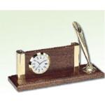 Часы настольные с визитницей и ручкой Bestar, орех