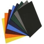 Обложки пластиковые Bindmark Кристал прозрачные, коричневые, А4, 180 мкм, 100 шт