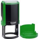 Оснастка для круглой печати Trodat 4642, диам 40 мм, пластик, зеленый