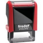 Оснастка для штампа Trodat 4910, 26х9 мм, пластик, красный