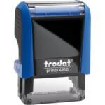 Оснастка для штампа Trodat 4910, 26х9 мм, пластик, синий