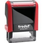 Оснастка для штампа Trodat 4911, 38х14 мм, пластик, красный