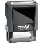 Оснастка для штампа Trodat 4911, 38х14 мм, пластик, серый