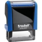 Оснастка для штампа Trodat 4911, 38х14 мм, пластик, синий