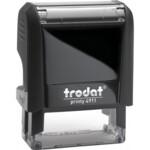 Оснастка для штампа Trodat 4911, 38х14 мм, пластик, черный