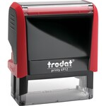Оснастка для штампа Trodat 4912, 47х18 мм, пластик, красный