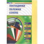 Обложки картонные D&A Delta Color под кожу желтый, А4, 230г/м2, 100 шт (1220101020400)